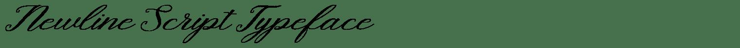 Newline Script Typeface