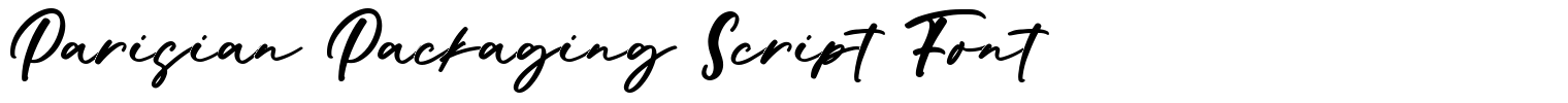 Parisian Packaging Script Font