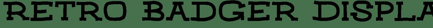 Retro Badger Display Font