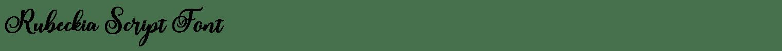 Rubeckia Script Font
