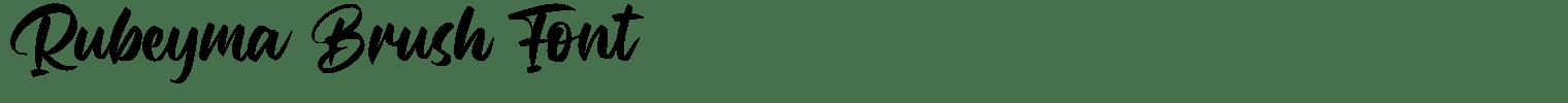 Rubeyma Brush Font
