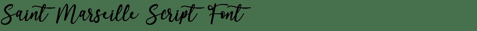 Saint Marseille Script Font