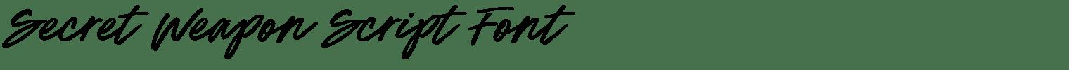 Secret Weapon Script Font