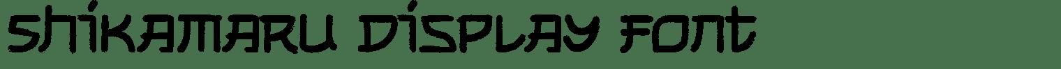 Shikamaru Display Font