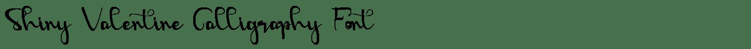 Shiny Valentine Calligraphy Font