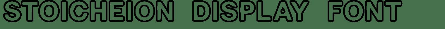 Stoicheion Display Font