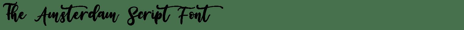 The Amsterdam Script Font