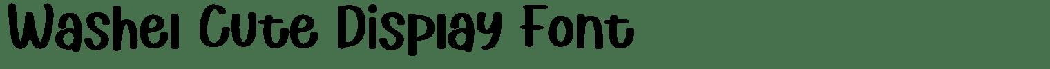 Washel Cute Display Font