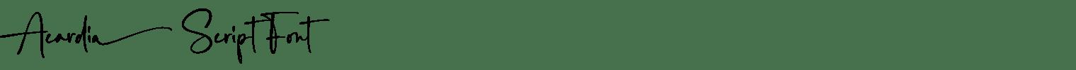 Acardia Script Font