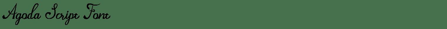 Agoda Script Font