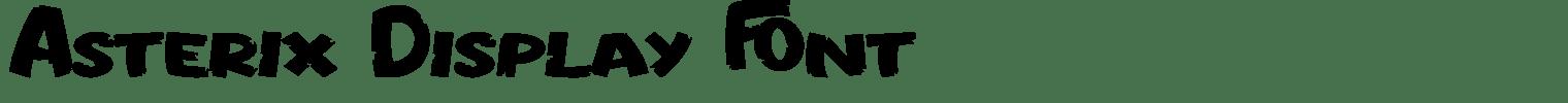 Asterix Display Font