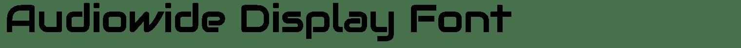 Audiowide Display Font