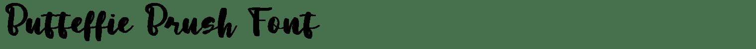 Butteffie Brush Font