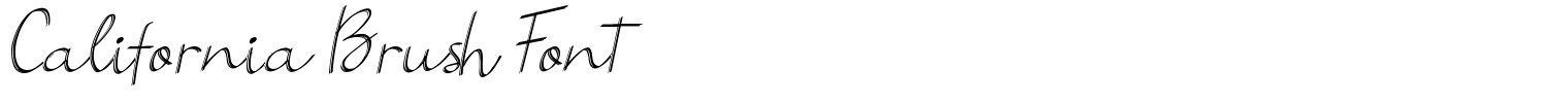 California Brush Font