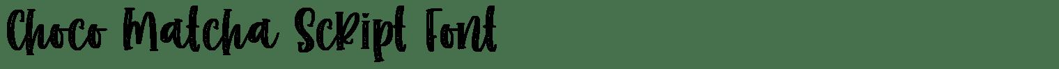Choco Matcha Script Font