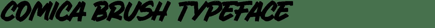 Comica Brush Typeface