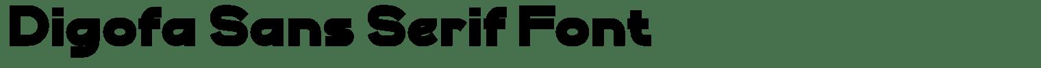 Digofa Sans Serif Font