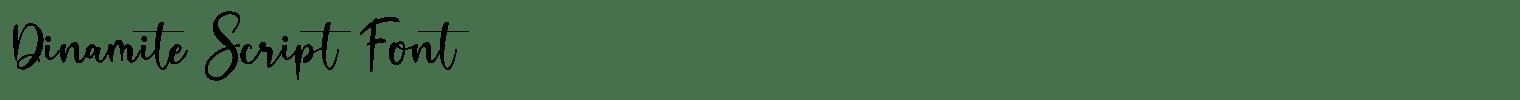 Dinamite Script Font