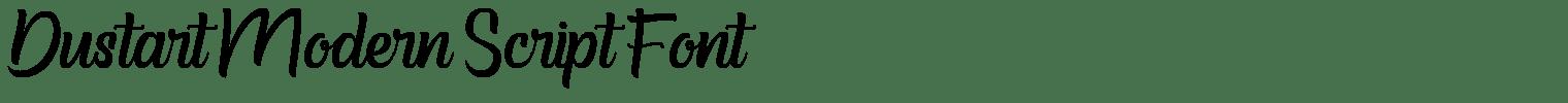 Dustart Modern Script Font