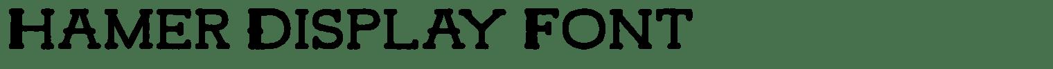 Hamer Display Font