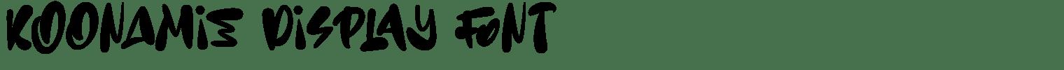 Koonamie Display Font