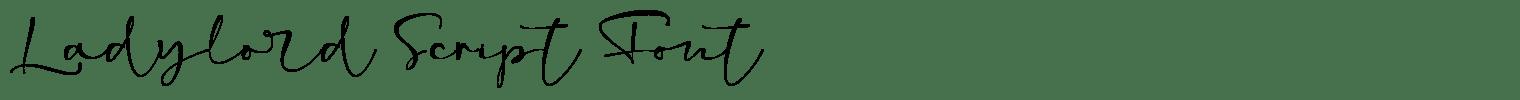 Ladylord Script Font
