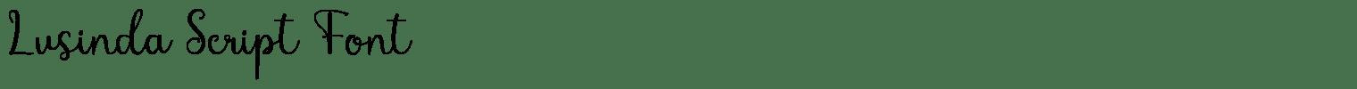 Lusinda Script Font