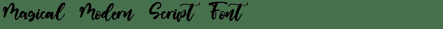 Magical Modern Script Font