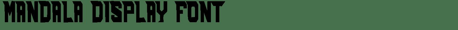 Mandala Display Font