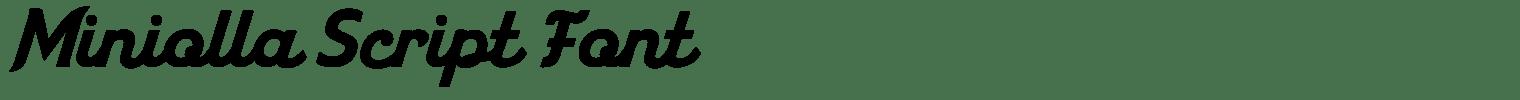 Miniolla Script Font
