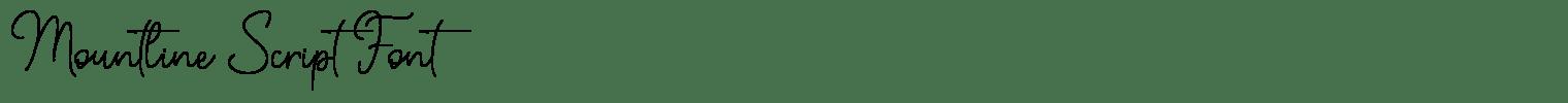 Mountline Script Font