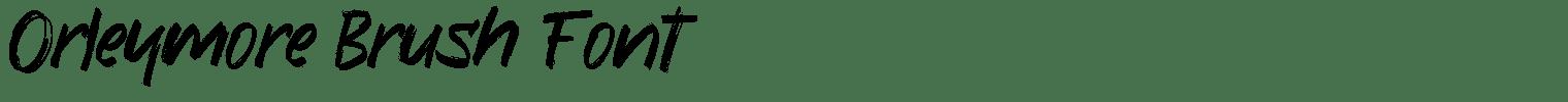 Orleymore Brush Font