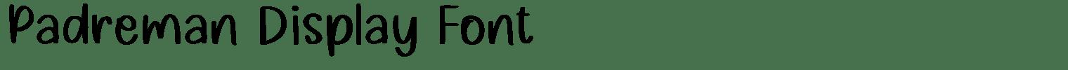 Padreman Display Font
