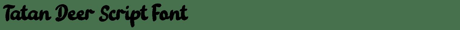 Tatan Deer Script Font