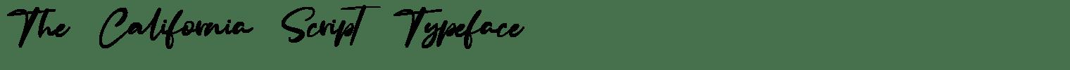 The California Script Typeface