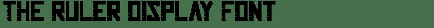 The Ruler Display Font