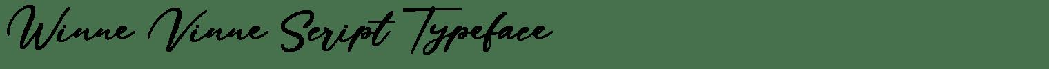 Winne Vinne Script Typeface