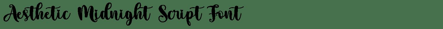 Aesthetic Midnight Script Font