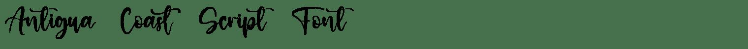 Antigua Coast Script Font