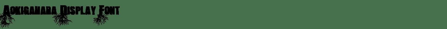 Aokigahara Display Font
