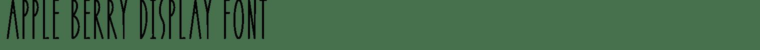 APPLE BERRY Display Font