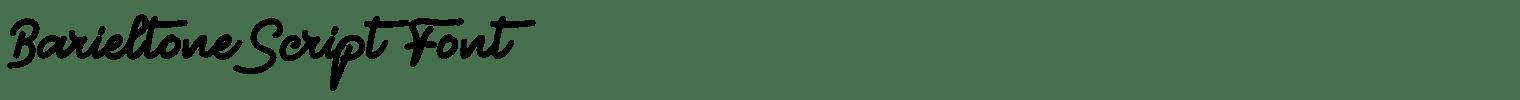 Barieltone Script Font