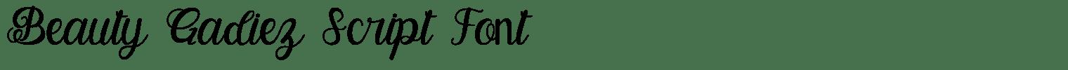 Beauty Gadiez Script Font