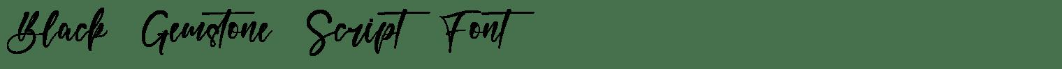 Black Gemstone Script Font