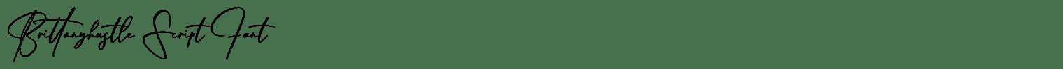 Brittanyhustle Script Font