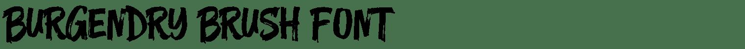 Burgendry Brush Font