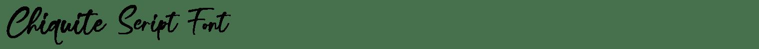 Chiquite Script Font