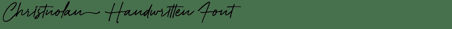 Christnolan Handwritten Font