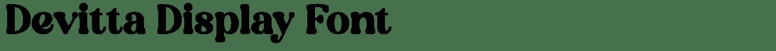 Devitta Display Font