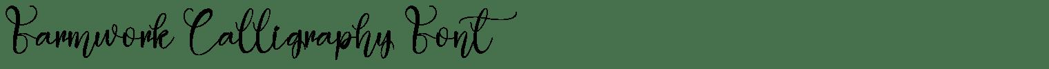 Farmwork Calligraphy Font
